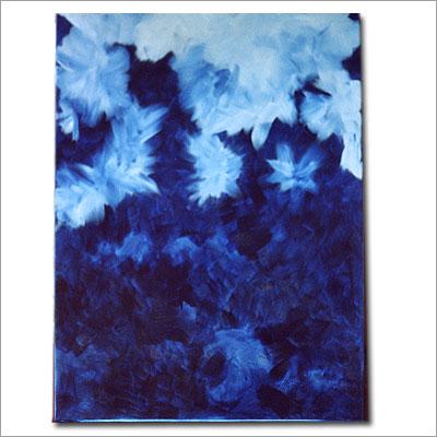 Eisblumen - Acryl auf Leinwnad 70 x 90 cm