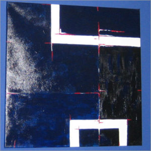 Acryl -Grafisches Gemälde in Blauvarianten