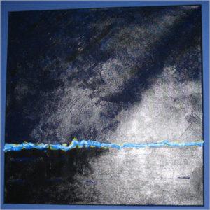 Grafisches Gemälde Blau in Acryl