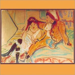 Frauenportrait on Pastellkreide angelegt